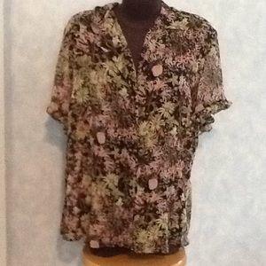 SagHarbor sheer dressy blouse